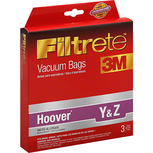 Hoover Y /& Z Vacuum Bag VACBAGS for WINDTUNNEL Breathe Easy Allergen Tempo