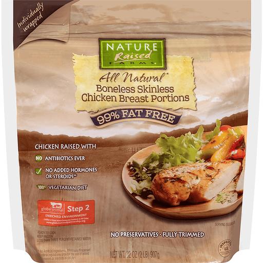 NatureRaised Farms Chicken Breast Portions, Boneless Skinless