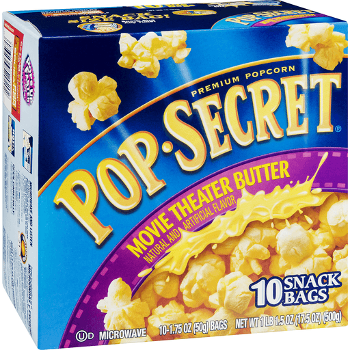 Pop Secret Movie Theater Butter Microwave Popcorn Snack Bags 10 Ct Unpopped Leppinks Food Centers
