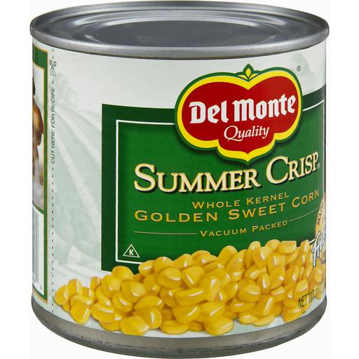 Del Monte Summer Crisp Corn, Golden Sweet, Whole Kernel
