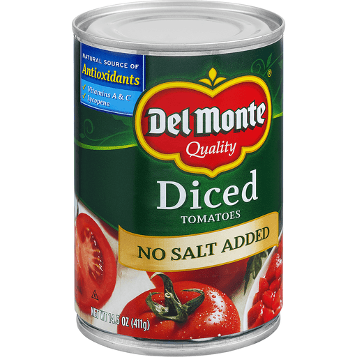 Del Monte Tomatoes, No Salt Added, Diced