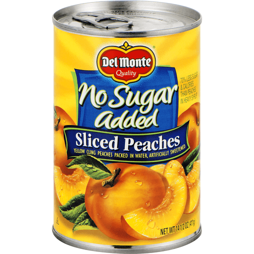 Del Monte Peaches, No Sugar Added, Sliced
