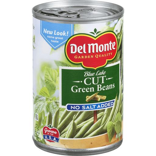 Del Monte Green Beans, Cut, Blue Lake, No Salt Added