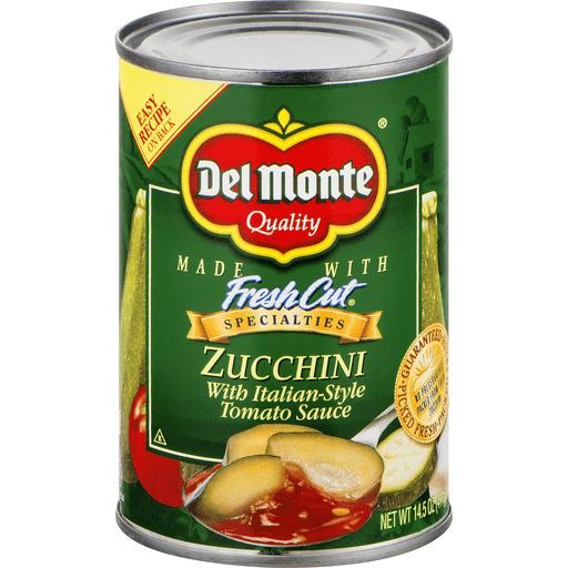 Del Monte Zucchini, with Italian Style Tomato Sauce
