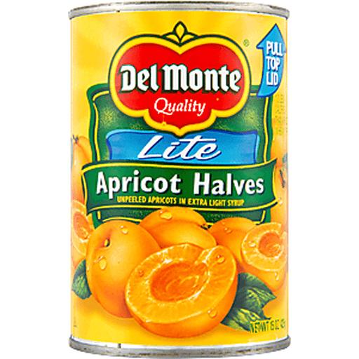 Del Monte Lite Extra Light Syrup Apricot Halves