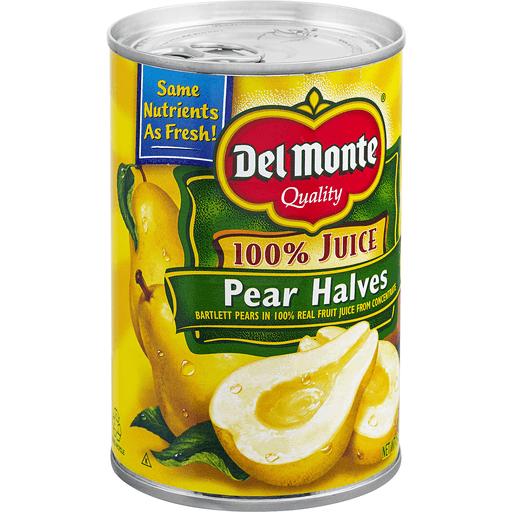 Del Monte Pear Halves, 100% Juice