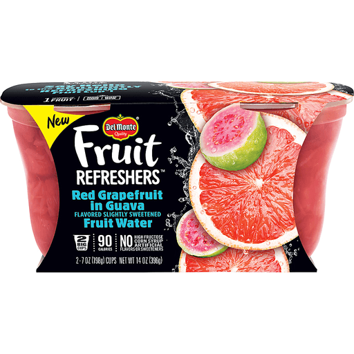 Del Monte Fruit Refreshers Red Grapefruit, in Guava Fruit Water, 2 Big Cups