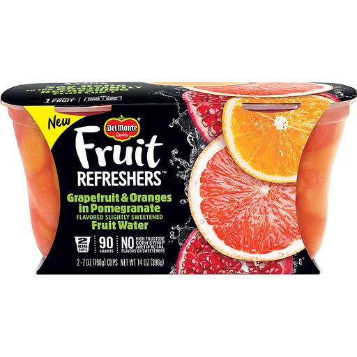 Del Monte Fruit Refreshers Grapefruit & Oranges, in Pomegranate Fruit Water, 2 Big Cups