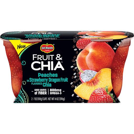 Del Monte Fruit & Chia Peaches, in Strawberry Dragon Fruit Flavored Chia