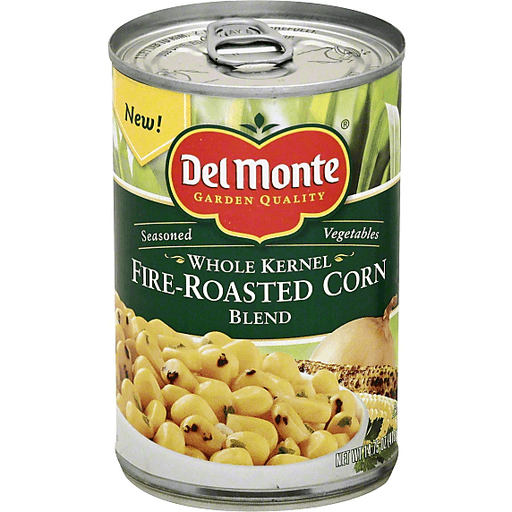 Del Monte Corn Blend, Fire-Roasted, Whole Kernel