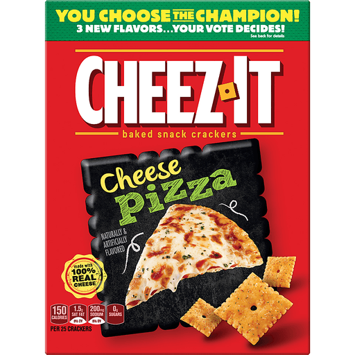 Cheez It Baked Snack Crackers, Cheese Pizza