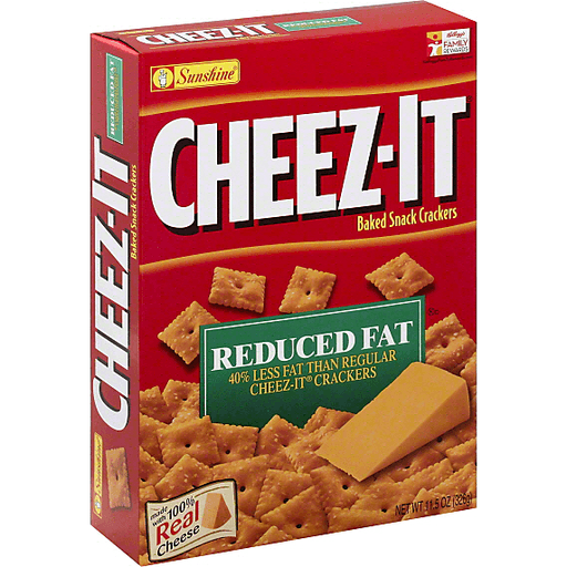Baked Snack Crackers, Reduced Fat
