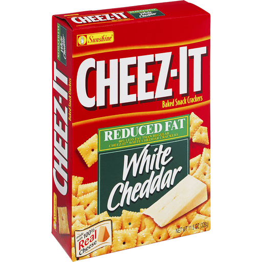 Cheez It Baked Snack Crackers, Reduced Fat, White Cheddar