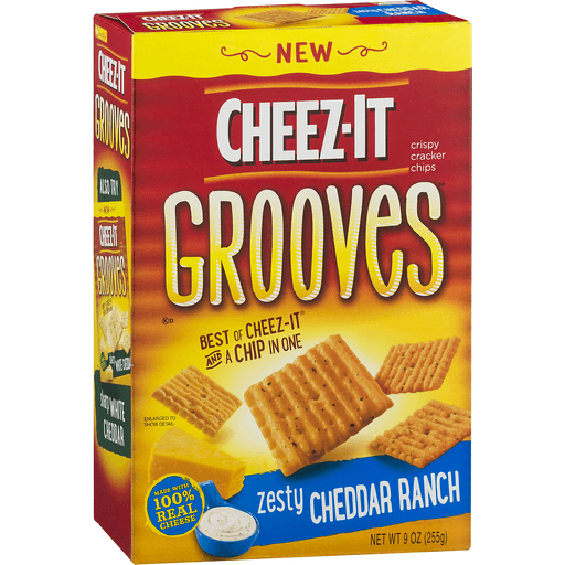Cheez It Grooves Crispy Cracker Chips, Zesty Cheddar Ranch