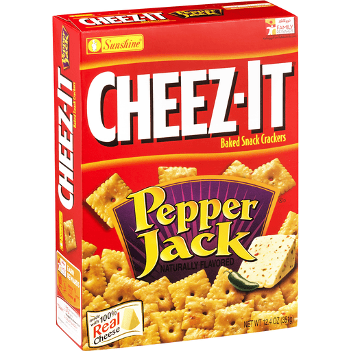 Cheez It Baked Snack Crackers, Pepper Jack