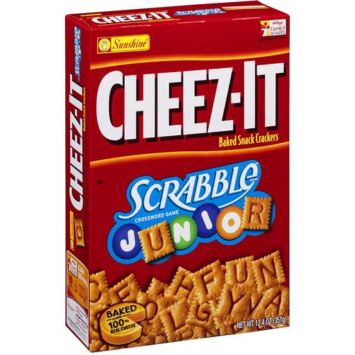 Cheez It Baked Snack Crackers, Scrabble Junior