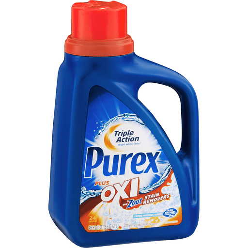 Purex Detergent, Plus Oxi and Zout Stain Removers, Fresh Morning Burst