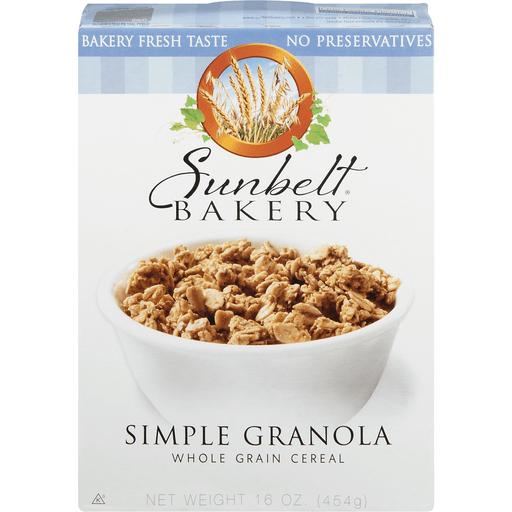 Sunbelt Bakery Cereal, Whole Grain, Simple Granola