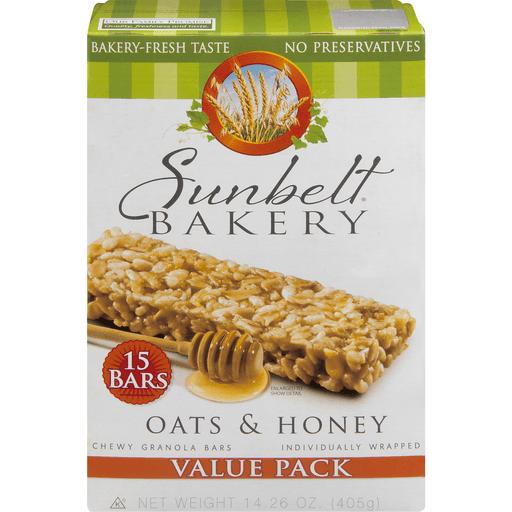 Sunbelt Bakery Granola Bars, Chewy, Oats & Honey, Value Pack