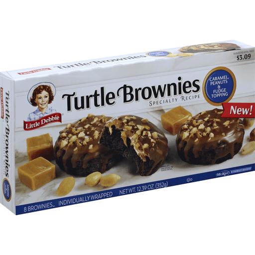Little Debbie Turtle Brownies, Caramel Peanuts & Fudge Topping ...