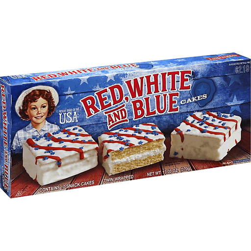 Little Debbie Cakes, Red White and Blue, Twin Wrapped
