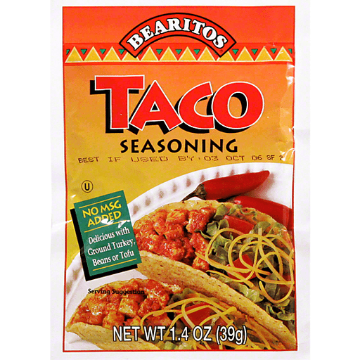 Bearitos Seasoning, Taco
