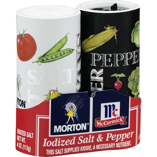 Morton Iodized Salt & Pepper