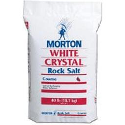 Morton Rock Salt White Crystal Extra Coarse Water Softening