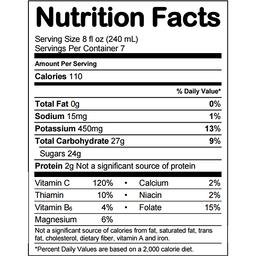 Minute Maid Orange Juice Nutrition