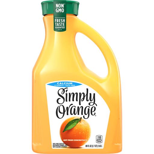 Simply Orange Jce W/Calcium Pulp Free