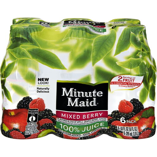 Minute Maid Mixed Berry 100% Juice - 6 PK