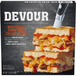 Devour Buffalo Chicken Grilled Cheese 741 Oz Box Edwards Food