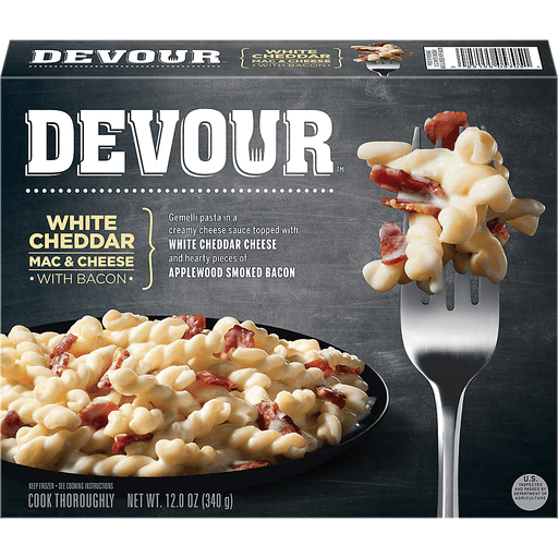 Devour White Cheddar Mac & Cheese, with Bacon