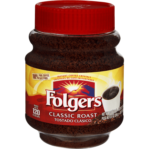 Folgers Coffee, Classic Roast, Instant Crystals