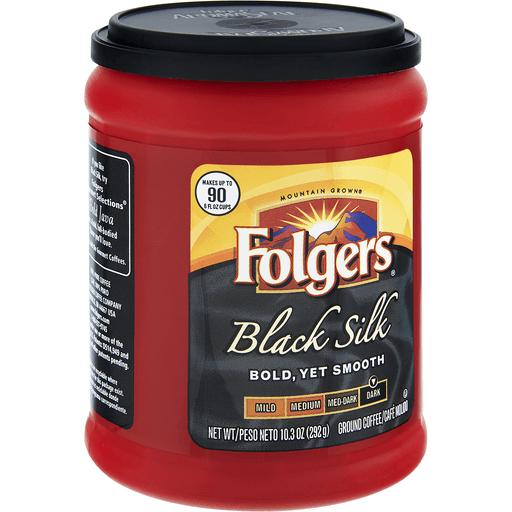 Folgers Black Silk Ground Coffee Dark