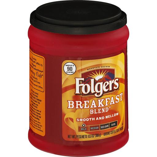 Folgers Coffee, Ground, Mild, Breakfast Blend