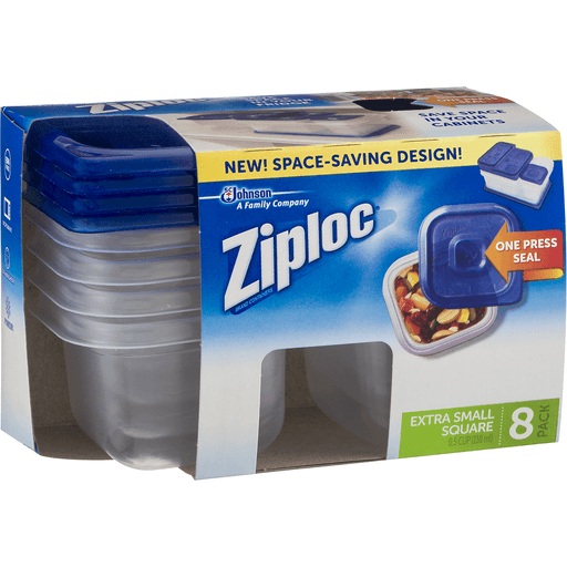 Ziploc Containers & Lids, Extra Small Square