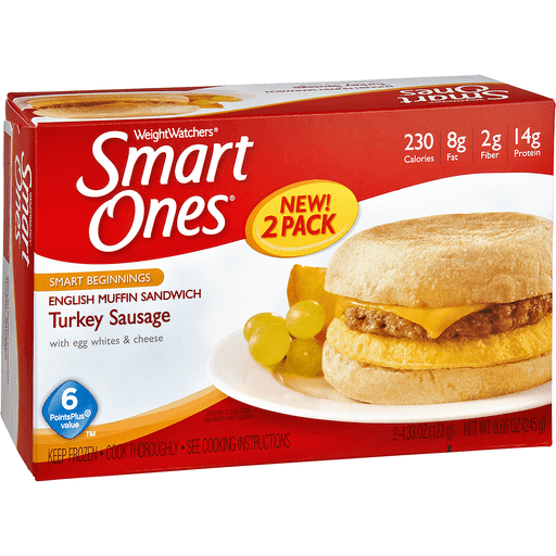 Smart Ones Tasty American Favorites English Muffin Sandwich, Turkey Sausage