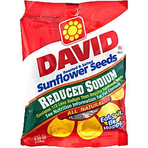 David Jumbo Sunflower Seeds Reduce Sodium