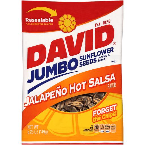 David Jumbo Sunflower Seeds Jalapeno Hot Salsa