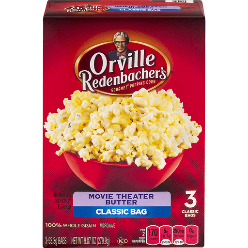 Orville Redenbachers Popping Corn, Gourmet, Movie Theater Butter, Classic Bags