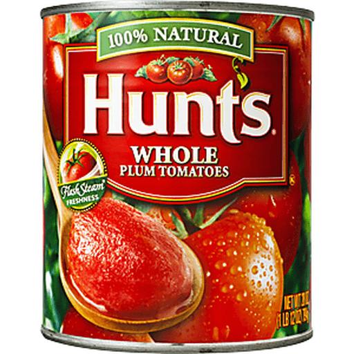 Hunts Tomatoes, Plum, Whole Peeled