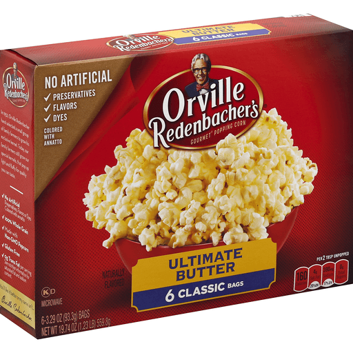 Orville Redenbachers Popping Corn, Gourmet, Ultimate Butter, Classic Bags