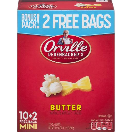 Orville Redenbacher's Gourmet Popping Corn Butter Single Serve Mini Bags - 12 CT