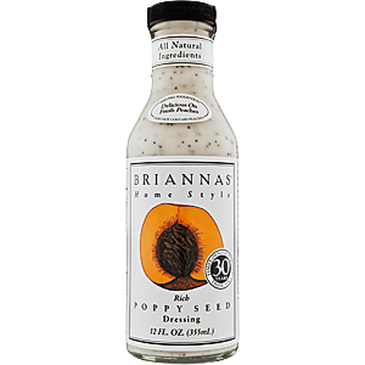 Briannas Dressing, Home Style, Rich Poppy Seed