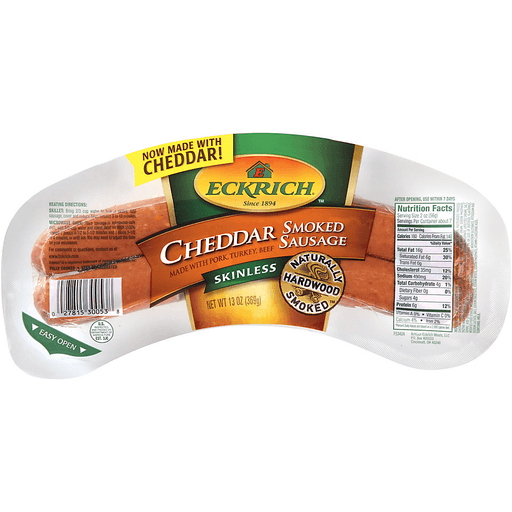 Eckrich® Skinless Cheddar Smoked Sausage 13 oz. Pack