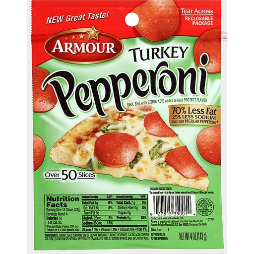 Armour® Turkey Pepperoni 4 oz. Pack