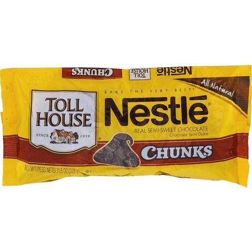 Toll House Semi-Sweet Chocolate, 100% Real, Chunks