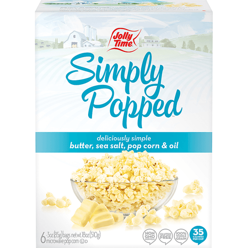 Jolly Time Simply Popped Popcorn, Microwawave