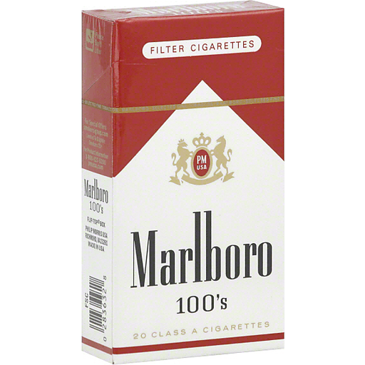Marlboro Filter Cigarettes, 100's, Flip-Top Box